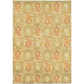 Martha Stewart Reflection Earth Silk/ Wool Rug (6' x 9')