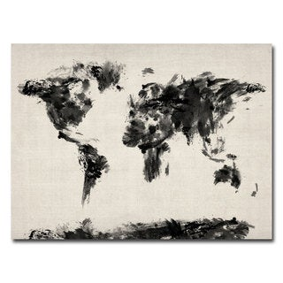 Michael Tompsett 'Abstract Map of the World' Canvas Art