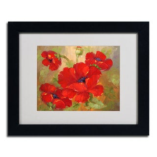Rio 'Poppies' Horizontal Framed Matted Art
