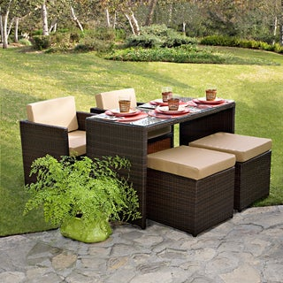 Portfolio kenyon valley brown wicker indoor outdoor 5 - Outdoor furniture small spaces ...