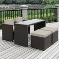 Portfolio Kenyon Valley Brown Wicker Indoor/ Outdoor 5-piece Dining Set