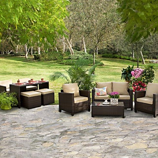 Portfolio Kenyon Valley Brown Wicker Indoor/ Outdoor 9-piece Dining Set