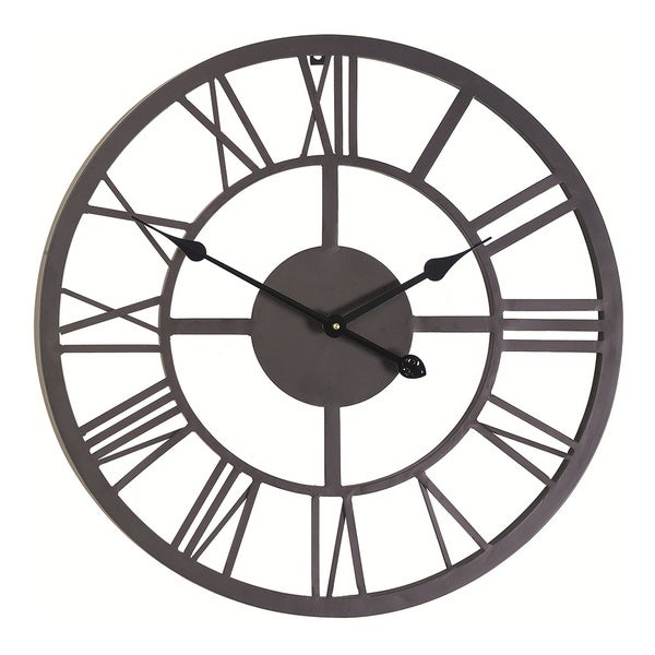 Giant Roman Numeral Wall Clock - 15261038 - Overstock.com Shopping ...