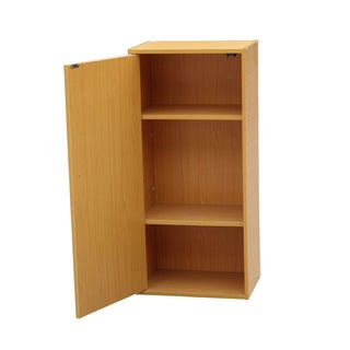 Oak Finish 3-tiered Adjustable Bookshelf