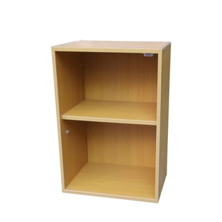 Oak Two-tiered Adjustable Bookshelf