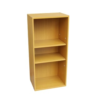 Oak 3-tier Adjustable Book Shelf