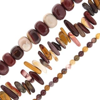 Pearlz Ocean Mookaite Jasper Loose Bead Strands (Set of 3)