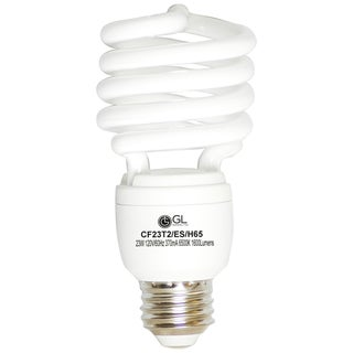 Goodlite G-10851 23-Watt CFL 100 Watt Replacement 1600-Lumen T2 Spiral Light Bulb, Cool White 4100k (25 Pk)