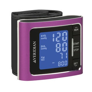 Pink Automatic Digital Wrist Blood Pressure Monitor