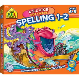 School Zone Deluxe Software Spelling 1-2 CD-Rom