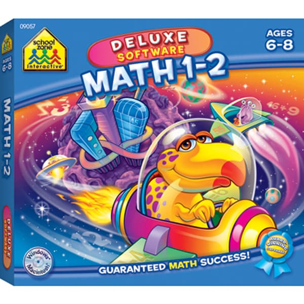 School Zone Deluxe Software Math 1-2 CD-Rom