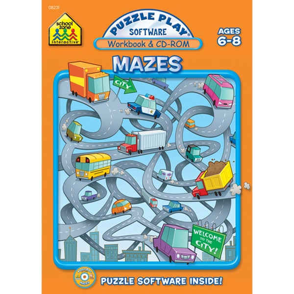 Puzzle Play Software Mazes Workbook & CD-Rom