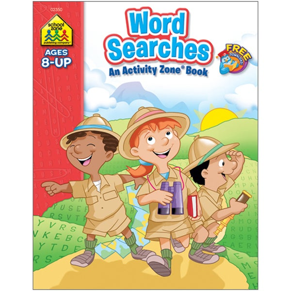 Word Searches Activity Zone Book