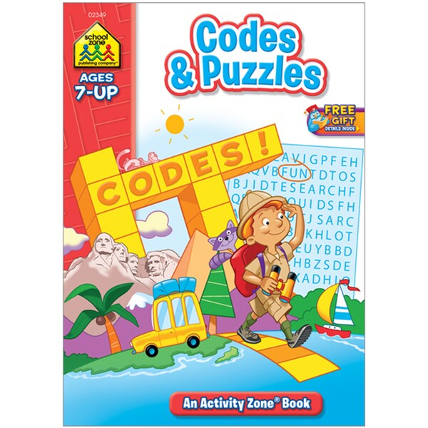 Codes & Puzzles Activity Zone Book