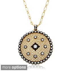 Riccova Goldtone Cubic Zirconia Lace Medallion Necklace