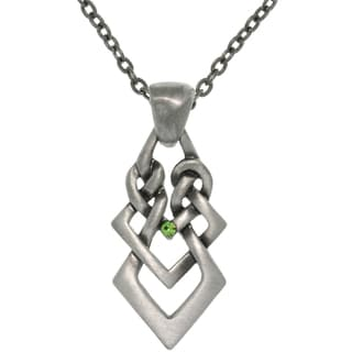 CGC Pewter Rhinestone Ambition Knot Necklace