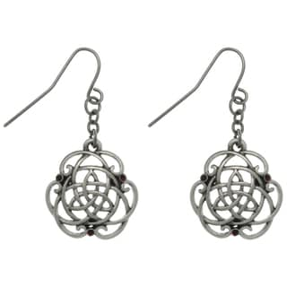 CGC Pewter Rhinestone Trinity Knot Earrings