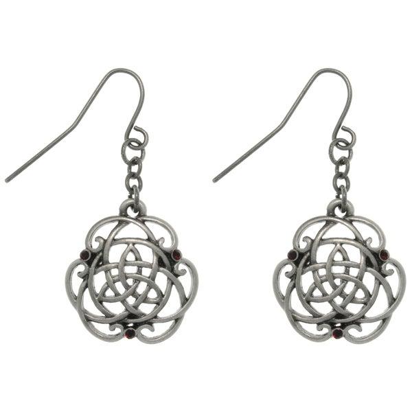 Carolina Glamour Collection Pewter Rhinestone Trinity Knot Earrings
