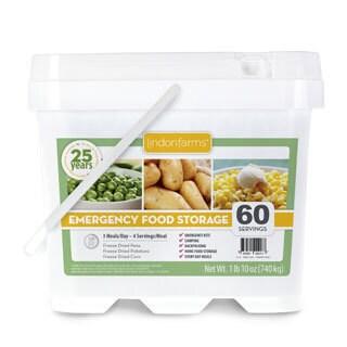 Lindon Farms 60 Servings Emergency Food Storage Kit
