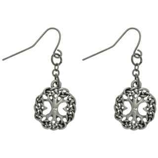 CGC Rhinestone Tree of Life Earrings