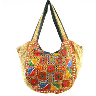 Handmade Embroidered Traditional Banjara Hobo Bag (India)