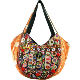Handmade Tribal Inspired Banjara Hobo Bag (India)