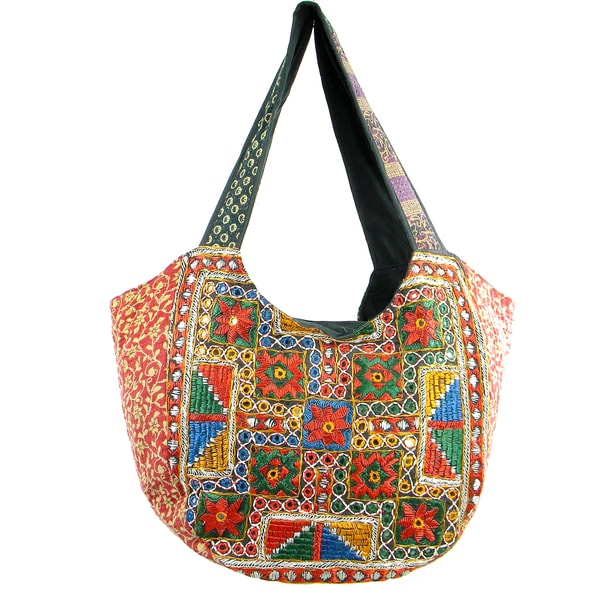 Handmade Tribal Style Banjara Hobo Bag (India)