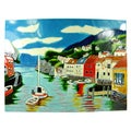 Hand Crafted 'Harbor / Port' Art Tile