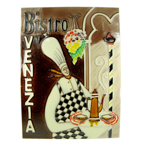 Hand Crafted 'Bistro' Art Tile