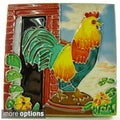 Hand-crafted Rooster Art Tile