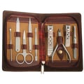 Dark Red Zippered Case 9-piece Manicure Set
