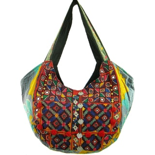 Handmade Embroidered Banjara Hobo Shoulder Bag (India)