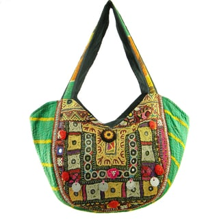 Handmade Embroidered Banjara Hobo Bag (India)