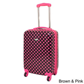 American Travel 20-inch Polka Dot Expandable Lightweight Hardside Spinner Upright Carry-on Luggage