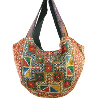 Floss Stiched with Sequins Vintage Banjara Hobo Bag (India)