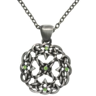 CGC Pewter Rhinestone Knot Mandala Necklace