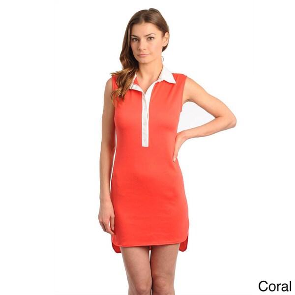 Stanzino Women's Contrast Collar Sleeveless Dress