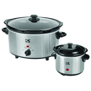 Kalorik 4.75-quart Stainless Steel Slow Cooker with 0.75-quart Dipper