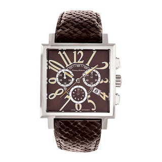 Tommy Bahama Men's Brown Square Case Watch with Stainless Steel Bracelet