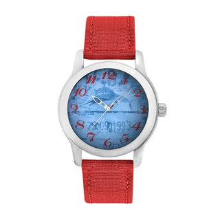 Tommy Bahama Men's 'Relax' Red Strap Graphic Watch