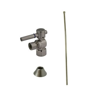 Decorative Satin Nickel Toilet Plumbing Supply Kit