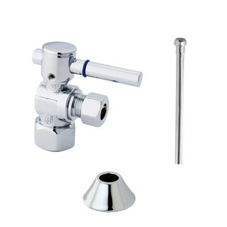Decorative Polished-Chrome Toilet Supply Kit
