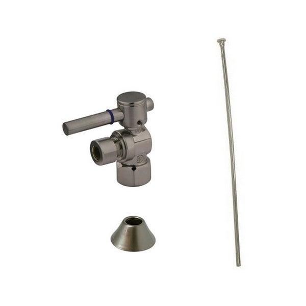 Decorative Brass Satin Nickel Toilet Supply Kit