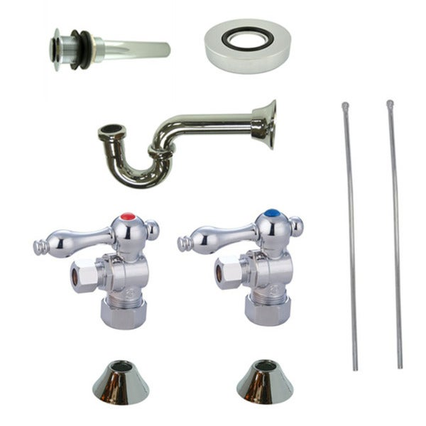 Vessel Sink Kit : Decorative Vessel Sink Chrome Plumbing Supply Kit without Overflow ...