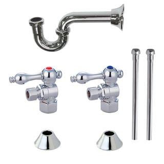 Decorative Chrome Plumbing Supply Kit
