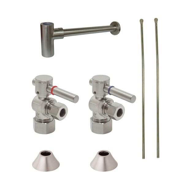 Decorative Satin Nickel Solid Brass Plumbing Supply Kit