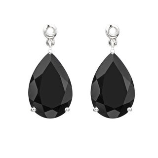 Sterling Silver Black Onyx Earring Jackets (Set of 2)