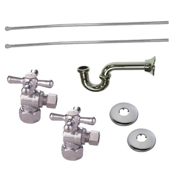 Decorative Polished Chrome Plumbing Supply Kit 10879920