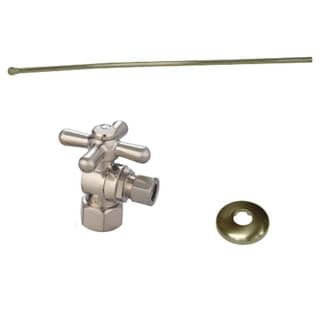 Decorative Satin-Nickel-Finished Brass Toilet Plumbing Supply Kit