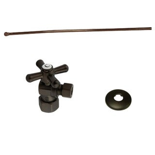 Decorative Oil Rubbed Bronze Toilet Plumbing Supply Kit
